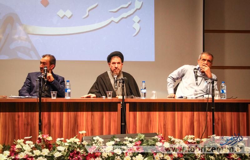 در مناظره دکتر پزشکیان و میرتاج الدینی چه گذشت؟ پزشکیان: احمدی نژاد قانون را اجرا نمیکرد /آقایان بدانند، از بسیجی ها بسیجی تر هستم/من هم میتوانستم در تهران زندگی کنم