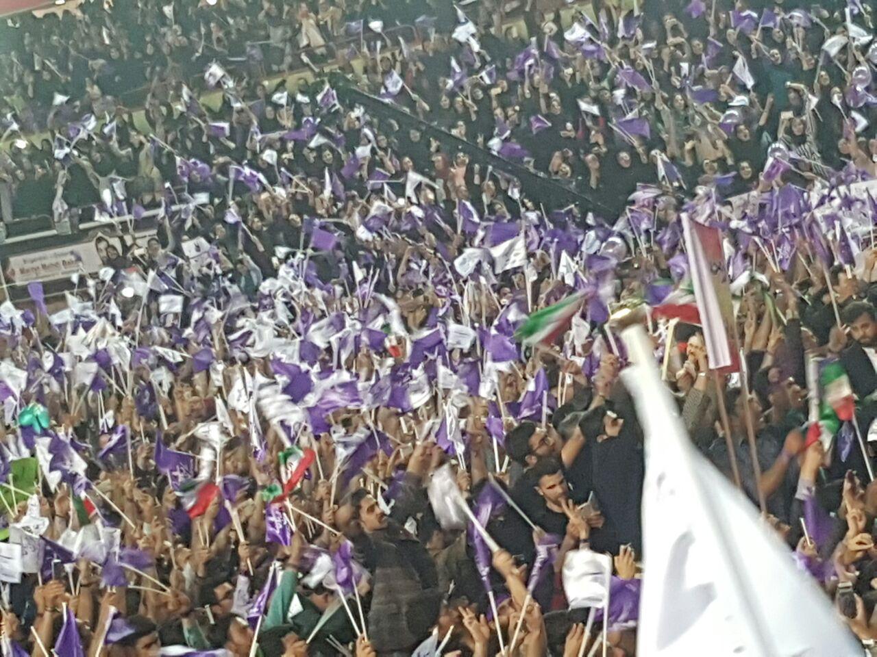 گزارش تصویری از  دیدار با شکوه مردم تبریز با آقای روحانی